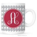 Houndstooth Monogram Coffee Mug