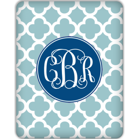 Quatrefoil Monogram Tablet Skin for your iPad 1, iPad 2, NEW Kindle Fire, Samsung Galaxy and more!