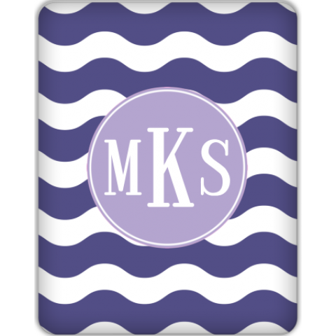 Ric Rac Monogrammed Tablet Skin for your iPad 1, iPad 2, NEW Kindle Fire, Samsung Galaxy and more!