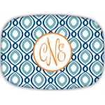 Happy Duo Monogram Melamine Platter