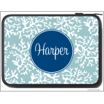 Coral Monogram Laptop Sleeve