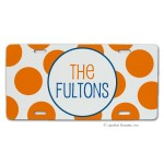 Orange Dots Car Tag
