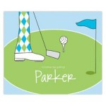 Guy Golfing Personalized Mousepad