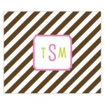 Chocolate Stripes Personalized Mousepad