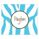 Funky Blue Zebra Name Personalized Mousepad