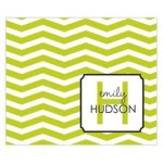 Green Zigzag Personalized Mousepad