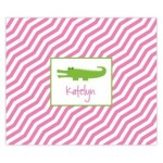 Pink Preppy Gator Personalized Mousepad