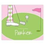 Girl Golfing Personalized Mousepad
