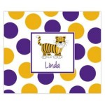 Purple And Gold Tiger Personalized Mousepad