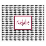 Houndstooth Name Personalized Mousepad
