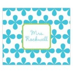 Blue Clover Leaf Personalized Mousepad