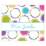 Funky Spiral Personalized Mousepad
