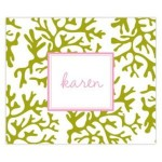 Green Coral Personalized Mousepad
