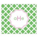 Green Lattice Personalized Mousepad