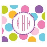 Multi Dot Monogram Personalized Mousepad
