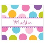 Multi Dot Name Personalized Mousepad