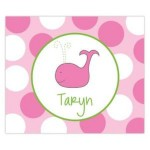 Preppy Whale Personalized Mousepad
