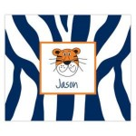 Blue Tiger Stripes Personalized Mousepad