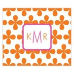 Orange Clover Leaf Personalized Mousepad