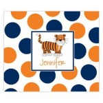 Polka Dot Blue Tiger Personalized Mousepad