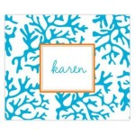 Blue Coral Personalized Mousepad