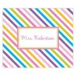 Preppy Stripes Personalized Mousepad