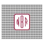Houndstooth Monogram Personalized Mousepad