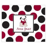Crimson And Black Personalized Mousepad
