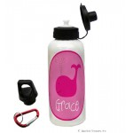 Pink Whale Water Bottle