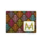 Chocolate Damask Multicolor Personalized Cutting Board