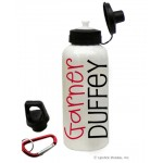 Red/Black Name Water Bottle