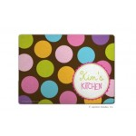 Chocolate Color Dots Personalized Cutting Board