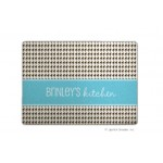 Choc Blue Houndstooth Personalized Cutting Board