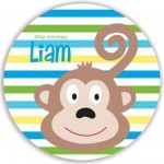 Plate - Monkey Boy Personalized Plate