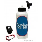 Navy/Red Circle Name Water Bottle